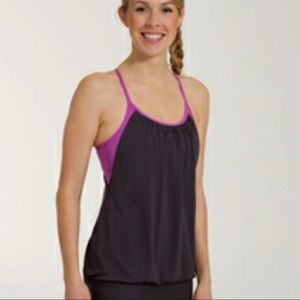 Lululemon No Limits Tank Purple Grey Exercise
